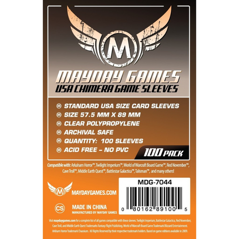 MDG 57.5x89mm USA Chimera Card Sleeves 100/pk