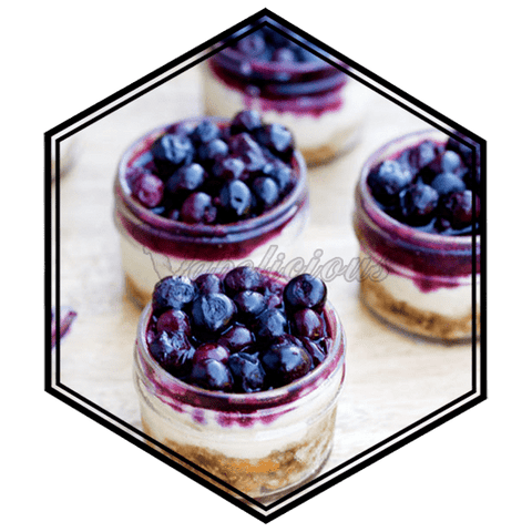 Blueberry Cheesecake - 100ml MTL - 18% NIC  Vapolicious™ Unsteeped E-Liquid vapolicious.myshopify.com Vapolicious™