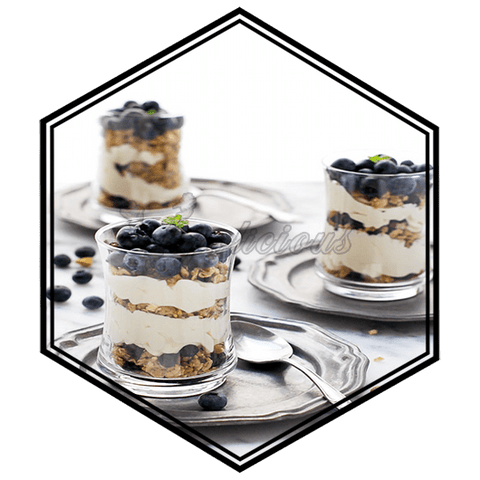Blueberry Granola Yogurt - ½ for 50ml  Vapolicious™ Flavor Shots vapolicious.myshopify.com Vapolicious™