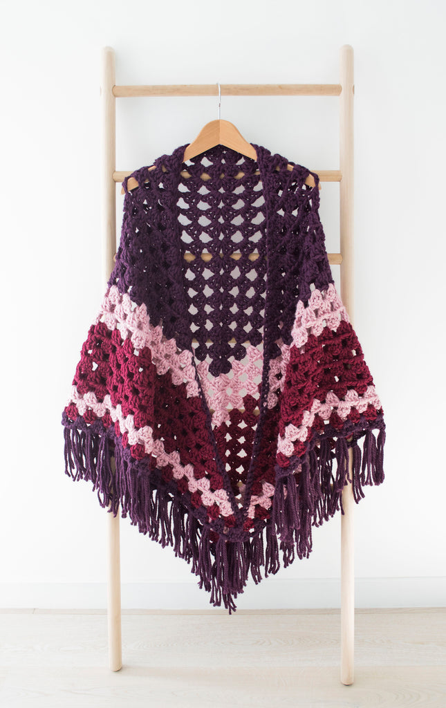 Berry Nebula - Crochet Shawl