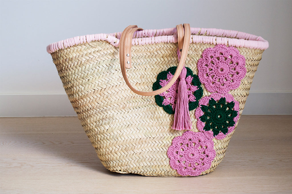 Watermelon woven Straw bag