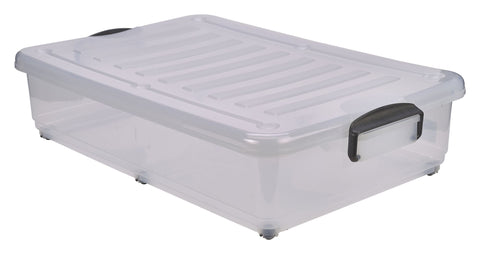 Genware 10240 Storage Box 40L W/ Clip Handles On Wheels