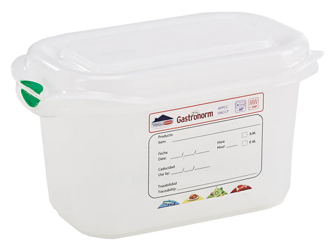 Genware 12350 GN Storage Container 1/9 100mm Deep 1L