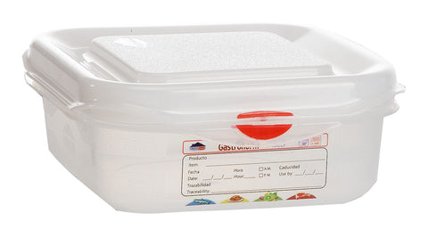 Genware 12370 GN Storage Container 1/6 65mm Deep 1.1L, Storage & Gastronorm, Advantage Catering Equipment