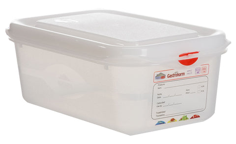Genware 12410 GN Storage Container 1/4 100mm Deep 2.8L, Storage & Gastronorm, Advantage Catering Equipment