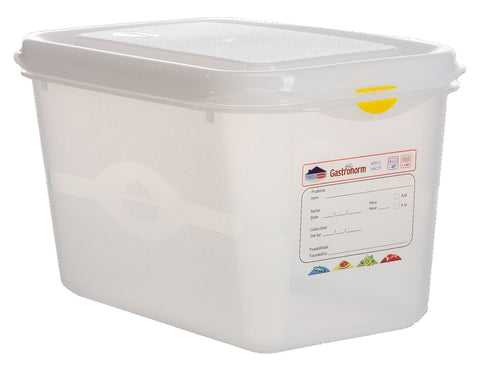 Genware 12420 GN Storage Container 1/4 150mm Deep 4.3L, Storage & Gastronorm, Advantage Catering Equipment