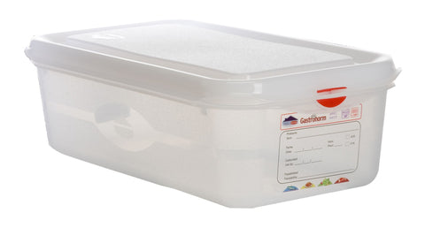 Genware 12440 GN Storage Container 1/3 100mm Deep 4L, Storage & Gastronorm, Advantage Catering Equipment