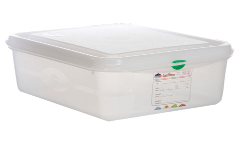Genware 12470 GN Storage Container 1/2 100mm Deep 6.5L, Storage & Gastronorm, Advantage Catering Equipment
