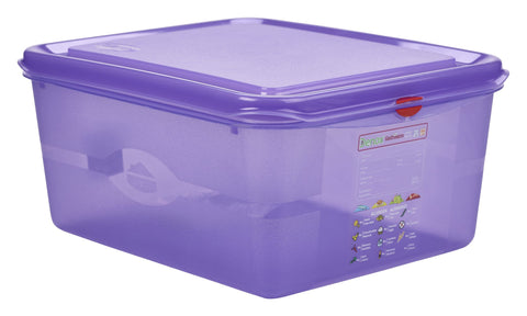 Genware 12480AL Allergen GN Storage Container 1/2 150mm Deep 10L