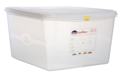 Genware 12520 GN Storage Container 2/3 200mm Deep 19L, Storage & Gastronorm, Advantage Catering Equipment