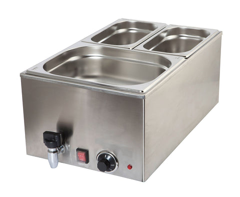 Genware 172-1020 Bain Marie 1/1 With Tap 1.2Kw, Bain Maries, Advantage Catering Equipment