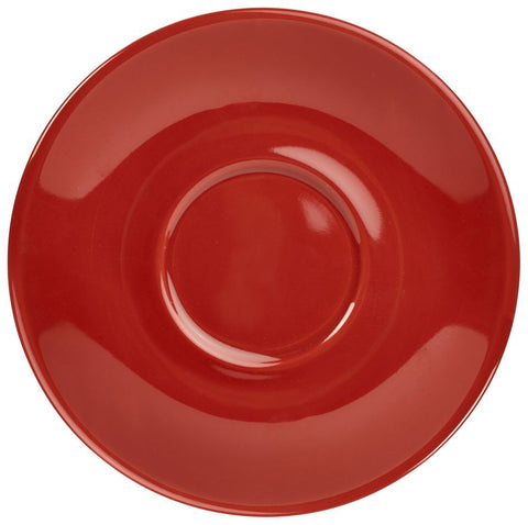 Genware 182112R Royal  Saucer 12cm Red, Tableware, Advantage Catering Equipment
