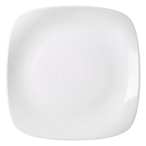 Genware 184527 Royal  Rounded Square Plate 27cm, Tableware, Advantage Catering Equipment
