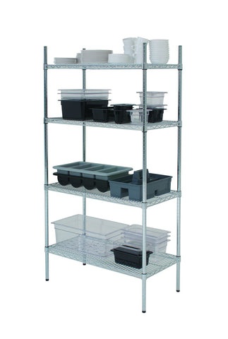 "Genware 222-4818 Racking 4 Tier 48"" x 18"" x 72"", Racking & Trolleys, Advantage Catering Equipment"