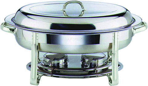 Genware 22761 Chafing Dish Set Oval 32X54X30cm, Buffet & Display, Advantage Catering Equipment