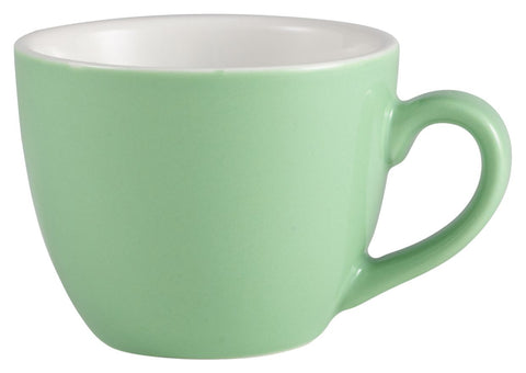 Genware 312109GR Royal  Bowl Shaped Cup 9cl Green