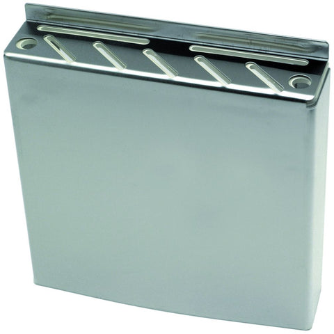 Genware 32100 S/St. Wall Fix Knife Box  30 x 32 x 6.5cm, Kitchen & Utensils, Advantage Catering Equipment