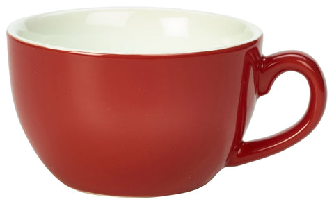 Genware 322118R Royal Bowl Shaped Cup 17.5cl/6oz Red