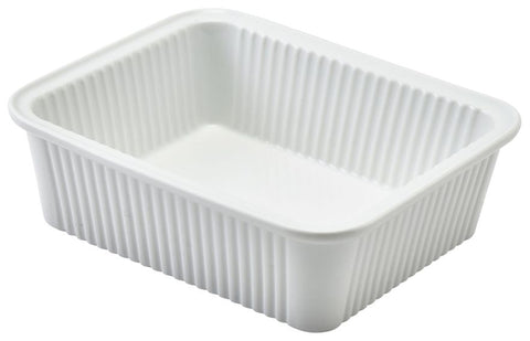 Genware 353316 Royal  Fluted Rectangular Dish 16 x 13 x 5cm, Oven-to-Tableware, Advantage Catering Equipment