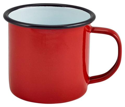 Genware 50018RED Enamel Mug Red 36cl/12.5oz