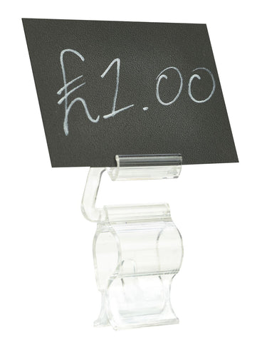 "Genware ADC2 Adjustable Display Clip 2.5"" (Pack of 5), Menu,Signs & Display, Advantage Catering Equipment"