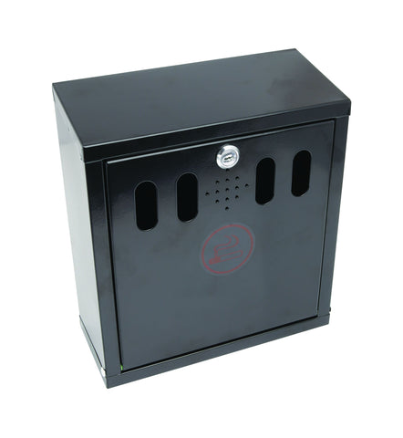 Genware AT-WM-BLK  Black Wall-Mounted Outdoor Ashtray, Outdoor Products, Advantage Catering Equipment