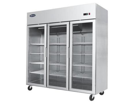 Atosa YCF 9403GR Three Door Glass Display Fridge, Chilled Display, Advantage Catering Equipment