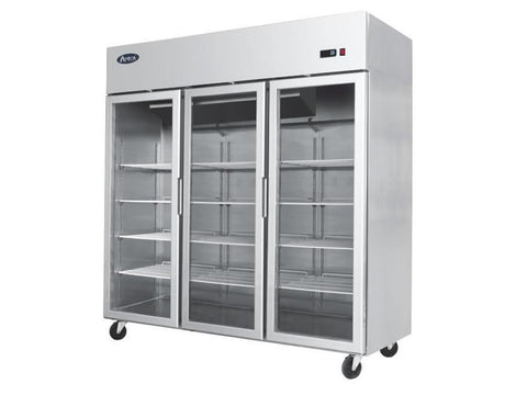 Atosa YCF 9409GR Three Glass Door Display Freezer, Frozen Display, Advantage Catering Equipment