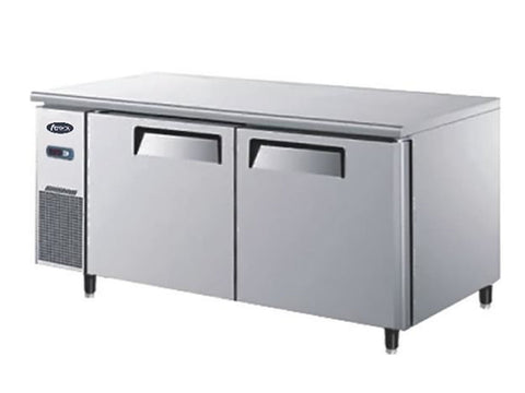 Atosa YPF 9032GR Two Door Prep Counter Fridge, Refrigerators, Advantage Catering Equipment