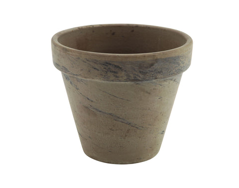 Genware BLT10BAS Terracotta Pot Basalt 11.2 x 9.7cm, Table Presentation, Advantage Catering Equipment