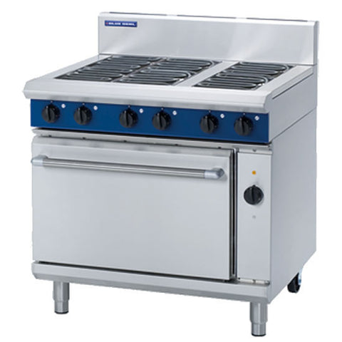 Blue Seal E56D Six Plate Electric Range with Electric Fan Oven, Range Cookers, Advantage Catering Equipment