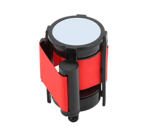 Genware BP-BLTR  Barrier Post - Retractable Red Belt, Outdoor Products, Advantage Catering Equipment