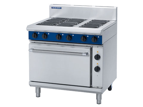 Blue Seal E506D Six Plate Electric Range with Electric Static Oven, Range Cookers, Advantage Catering Equipment