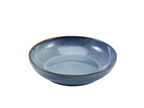 Genware CB-PBL27 Terra Porcelain Aqua Blue Coupe Bowl 27.5cm, Tableware, Advantage Catering Equipment