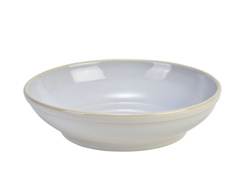 Genware CB-WH27 Terra Stoneware Rustic White Coupe Bowl 27.5cm, Tableware, Advantage Catering Equipment