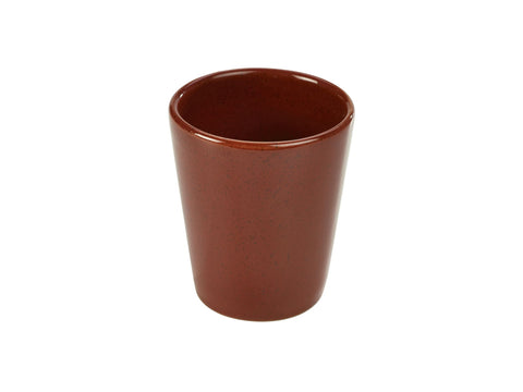 Genware CC-R10 Terra Stoneware Rustic Red Conical Cup 10cm, Tableware, Advantage Catering Equipment