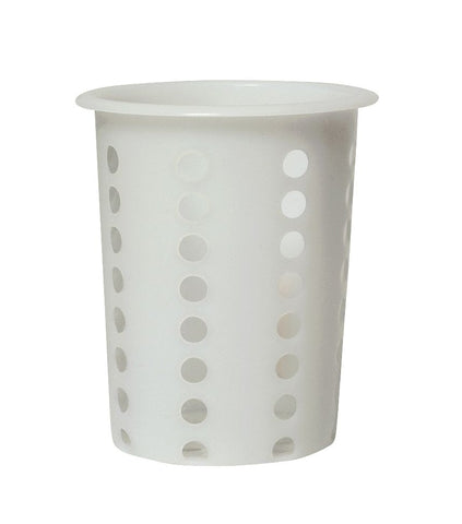 Genware CCC Cutlery Cylinder White 100 mm Dia.135mm High