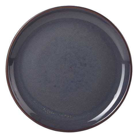 Genware CP-BL19 Terra Stoneware Rustic Blue Coupe Plate 19cm, Tableware, Advantage Catering Equipment