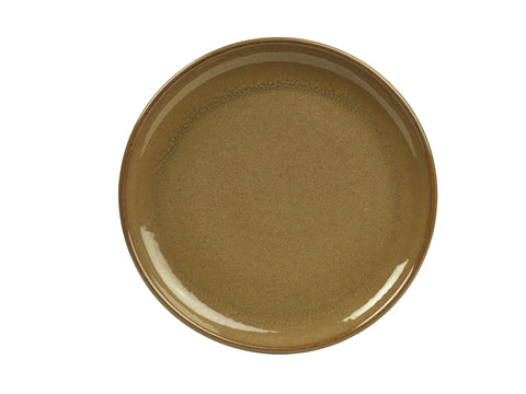 Genware CP-BR24 Terra Stoneware Rustic Brown Coupe Plate 24cm, Tableware, Advantage Catering Equipment