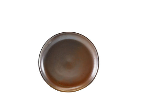 Genware CP-PRC24 Terra Porcelain Rustic Copper Coupe Plate 24cm, Tableware, Advantage Catering Equipment