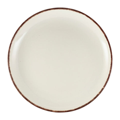 Genware CP-SBR27 Terra Stoneware Sereno Brown Coupe Plate 27.5cm, Tableware, Advantage Catering Equipment