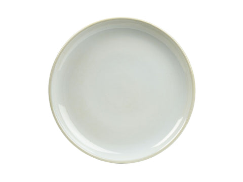 Genware CP-WH24 Terra Stoneware Rustic White Coupe Plate 24cm, Tableware, Advantage Catering Equipment