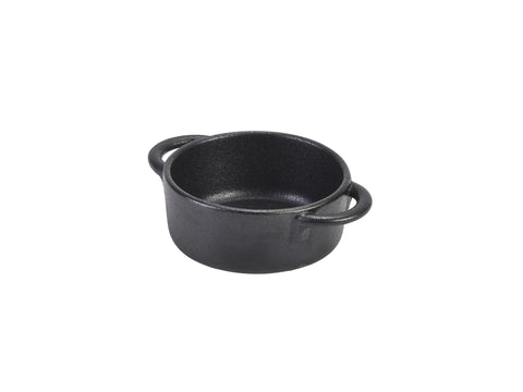 Genware CT-CD9 Cast Iron Effect Casserole Dish 9 x 4cm