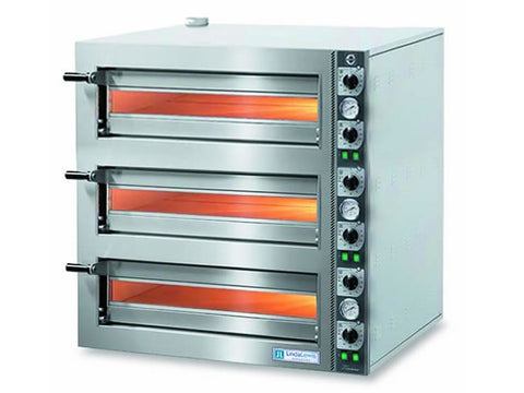 Cuppone LLKTZ6203 Tiziano Triple Deck Electric Pizza Oven