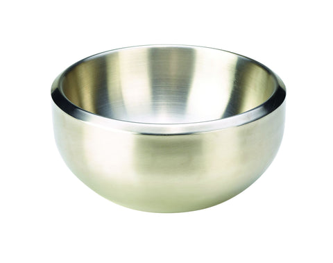Genware DAB24 Stainless Steel Double Walled Dual Angle Bowl