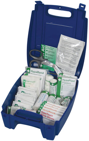 Genware FAMED BSI Catering First Aid Kit Medium (Blue Box), Safety & First Aid, Advantage Catering Equipment