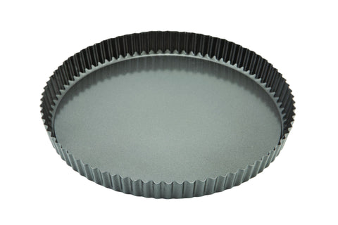 Genware FQT-CS29 Carbon Steel Non-Stick Fluted Quiche Tin 29cm