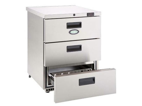 Foster HR 150D Three Drawer Under Counter Refrigerator, Refrigerators, Advantage Catering Equipment