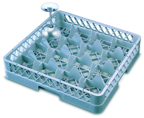 Genware GR16  16 Compartment Glass Rack