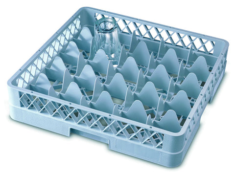 Genware GR25  25 Compartment Glass Rack